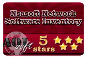 Nsasoft Network Software Inventory Award from Aol-Soft