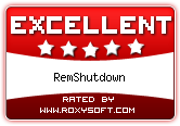 RemShutdown Award from Roxysoft