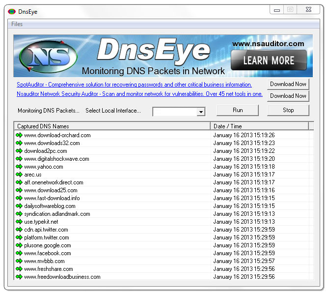 Click to view DnsEye 1.5 screenshot