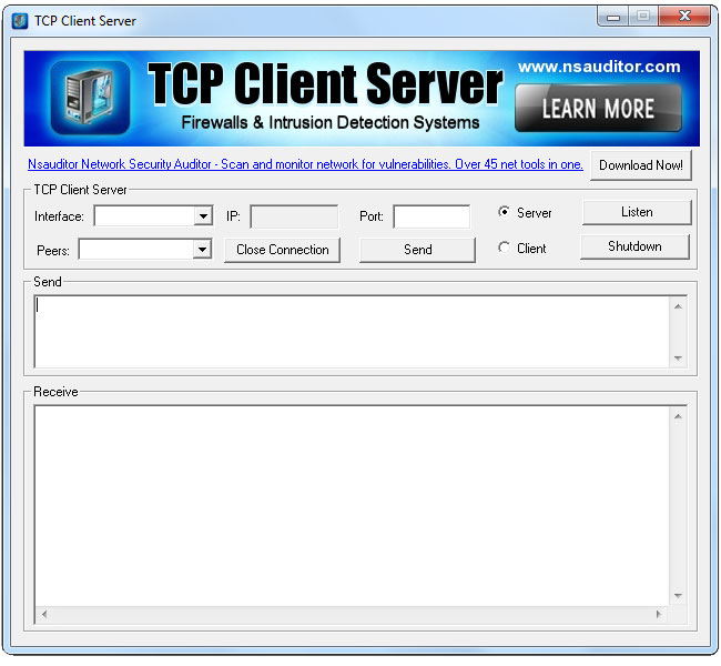 Tcp Client Sever is a useful network utility.