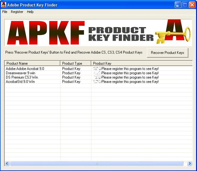 APKF Product Key Finder 2.5.4