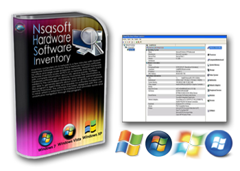 Nsasoft Hardware Software Inventory - Scans network and displays complete hardware and software information!