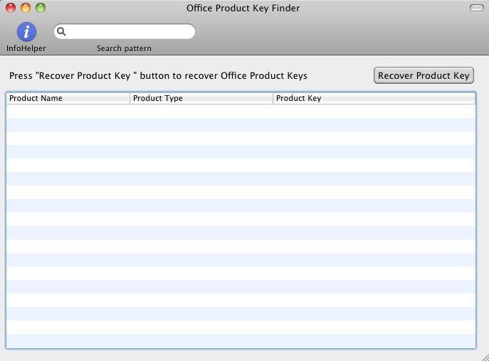 Office Product Key Finder recovers cd keys for MS Office for MAC