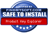 Product Key Explorer Award From www.product-key-explorer.findmysoft.com