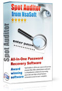 SpotAuditor is All-in-one password recovery program that offers administrators and users a comprehensive solution for recovering passwords and other critical business information saved in users' computers.